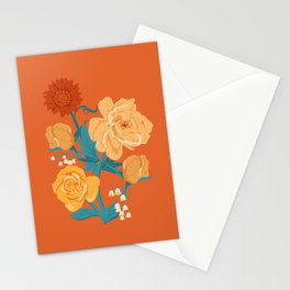 Paint by Number in Orange Stationery Cards