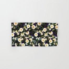 Paige's Floral Art Purple Thistle and Lisianthus Flower Arrangement Hand & Bath Towel