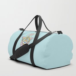 Hamsa On Turquoise Duffle Bag