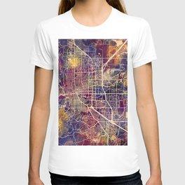 Boulder Colorado City Map T-shirt