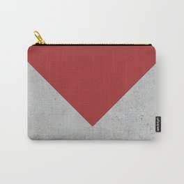 Red & Grey Concrete Carry-All Pouch
