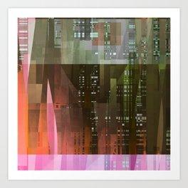 edge of city Art Print