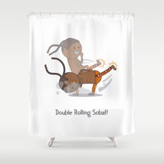 Double Rolling Sobat! Shower Curtain