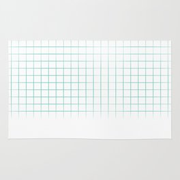 Mint Grid Rug