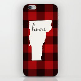 Vermont is Home - Buffalo Check Plaid iPhone Skin