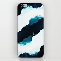 teal iPhone & iPod Skins featuring Teal Isolation by Stoian Hitrov - Sto