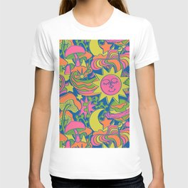 Psychedelic Daydream in Neon + Blue T-shirt