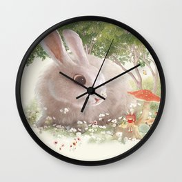 Flowers are Small Universe Wall Clock