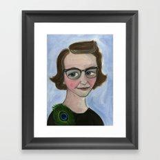 Flannery O'Connor Art Print, Literary Portrait (6x8)