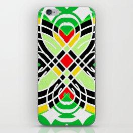 Retro 1970s Geo Butterfly Motif iPhone Skin
