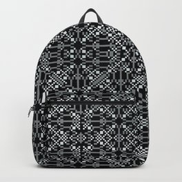 A tall white fountain played. Backpack