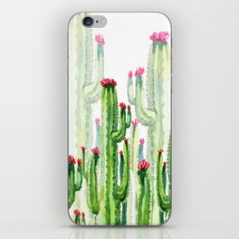 Green Cactus Field iPhone Skin