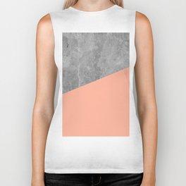 Geometry 101 Sweet Peach Pink Biker Tank