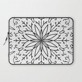 Single Snowflake - White Laptop Sleeve
