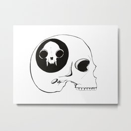 Your skull could fit in mine Metal Print