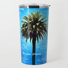 Long Beach, California - Palm Tree -  Pop Art Travel Mug