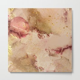 Abstract Watercolor Paint Swashes Decor Art Metal Print