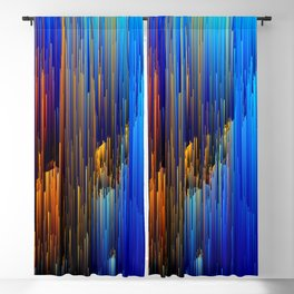 Rise Up - Abstract Pixel Glitch Art Blackout Curtain