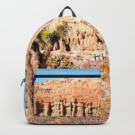 Cactus in the desert with blue sky Backpack