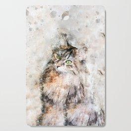 Duchess Watercolor Cat Cutting Board