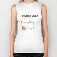 spice Biker Tanks featuring Pumpkin Spice by Skuishy
