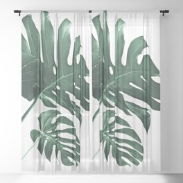 Tropical Monstera Finesse #1 #minimal #decor #art #society6 Sheer Curtain