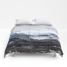 Jasper Glaciers | Landscape Photography | Mountains and Clouds | Skyscape Comforters