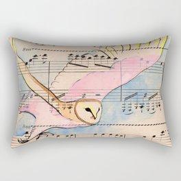 White Cockade Rectangular Pillow