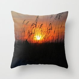 Losing the Moon Throw Pillow