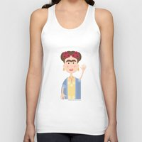 mexican Tank Tops featuring Mexican Wave by Lisa Jayne Murray - Illustration