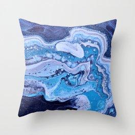 Blue Strike Throw Pillow
