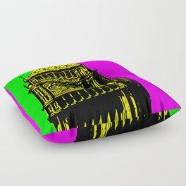 Big Ben - In all her coloured glory... Floor Pillow