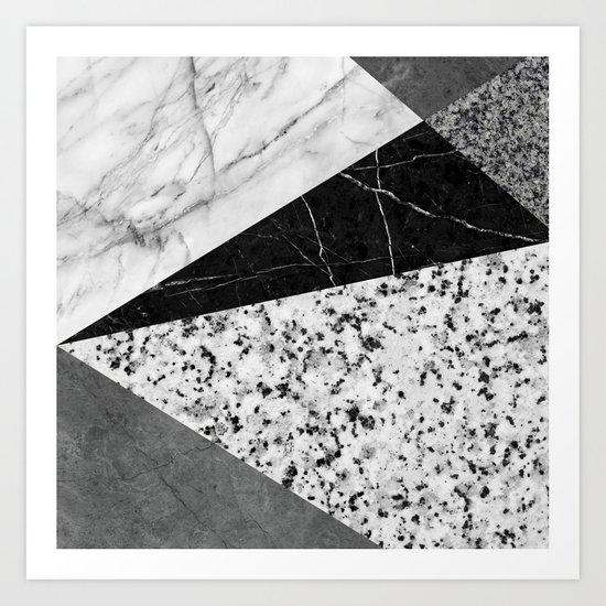 Marble and Granite Abstract Art Print