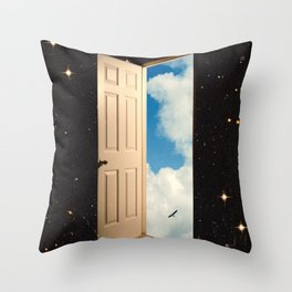 The Portal: From The Stars To The Clouds Throw Pillow