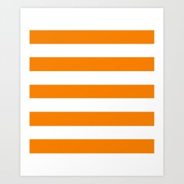 University of Tennessee Orange - solid color - white stripes pattern Art Print