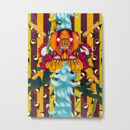Maximalist tiger dream Metal Print