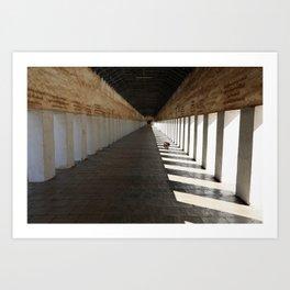 Walkway to Shwezigon temple, Nyaung U, Myanmar Art Print