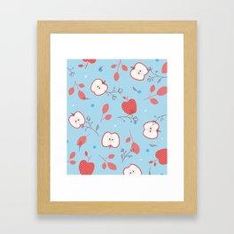 Happy Apples Framed Art Print
