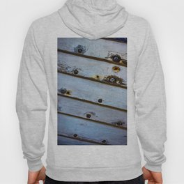 Old White Wooden Boat Hoody