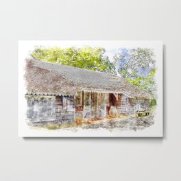 Caribbean Homestead Metal Print
