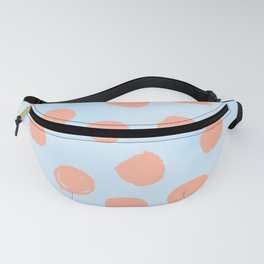 Sweet Life Dots Peach Coral Pink + Blue Raspberry Fanny Pack