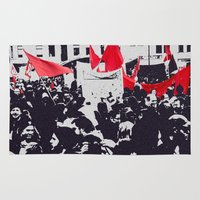 free shipping Area & Throw Rugs featuring Black and red  by Ordiraptus