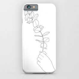 Minimal Hand Holding the Branch I iPhone Case
