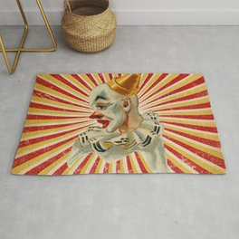 Scary vintage circus clown Rug