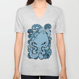 Octopus Squid Kraken Cthulhu Sea Creature - Sailor Blue Unisex V-Neck