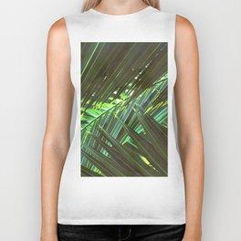 Coconut palm leaves Biker Tank
