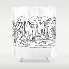 Ice Creek Lake, Valhallas :: Single Line Shower Curtain