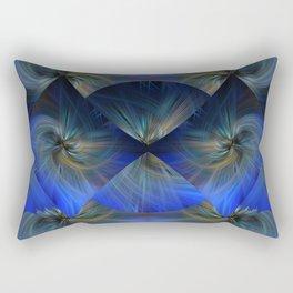Blue Diamond Twirl Rectangular Pillow
