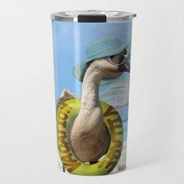 Summer Fun at the Beach ~ Vacation Goose! Travel Mug