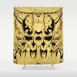"""""""Vampire Skull & Crossbones"""" Shower Curtain"""